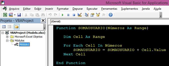 Crie sua própria função no Excel-2