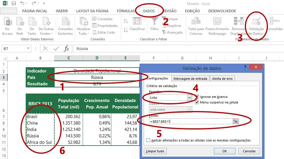 Validação de dados (2)